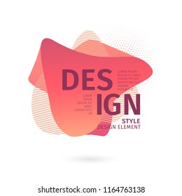 Unique abstract graphic elements. Banner with a gradient shape. Design template for presentation or flyer. Abstract forms with dynamic composition. Minimal mesh background. Modern style flow vector