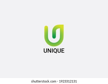 Unique Abstract U letter modern logo design