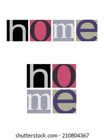 Unique and Abstract Vector 'Home' logos