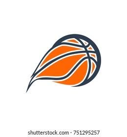 unique basket ball logo. editable. vector