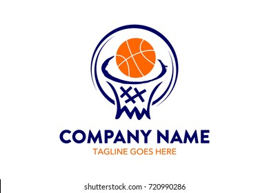 Unique Basket Ball Logo Template