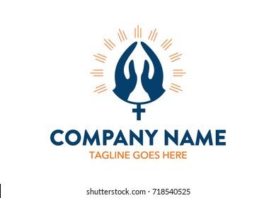 Unique Church Logo Template