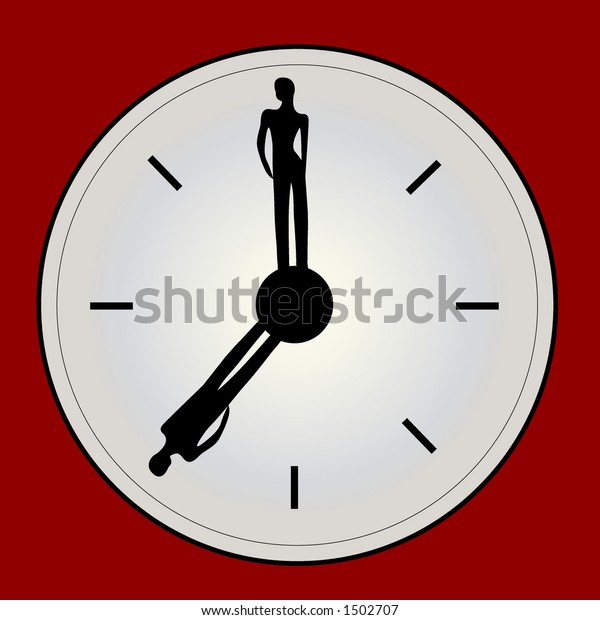 Unique Clock People Hands Stock Vector Royalty Free 1502707