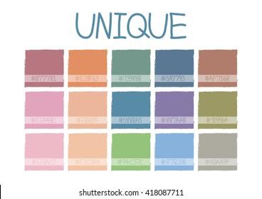 Unique Color Tone with Code Vector Illustration