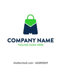 Unique And Conseptual Shopping Retail Logo Template