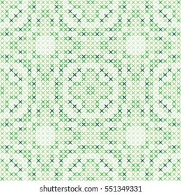 Unique cross stitch pattern colorful gift for your family good looking present green