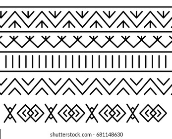 Unique decoration of log houses based on patterns used in traditional embroidery in village of Cicmany, UNESCO World Heritage Site, Slovakia, Vector on white background
