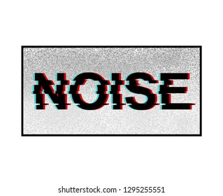 Unique Design Abstract Digital Pixel Noise effect, noise slogan, textile printing drawing, t-shirt graphic design and for different jobs - Vector