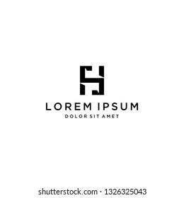 unique design logo or monogram or initial letter HS