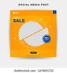 Unique Editable modern Social Media banner Template. Promotional web banner for social media post.