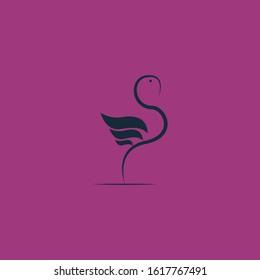Unique flamingo logo, Vector Illustration of a Flamingo.