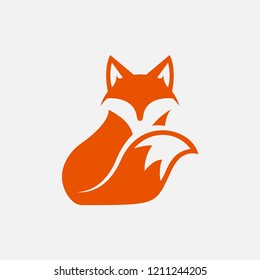 unique fox logo design