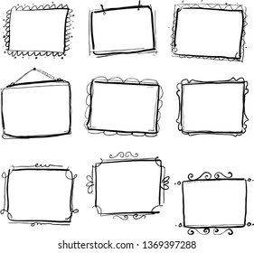 unique frame hand drawn