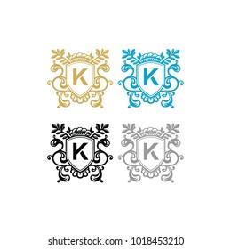 unique frame K logo design