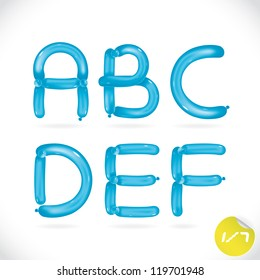 Unique Glossy Balloon Alphabet, Letters, Illustration, Sign, Icon, Symbol for Baby, Family, Education