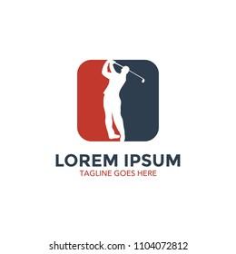 unique golf logo vector illustration design. icon