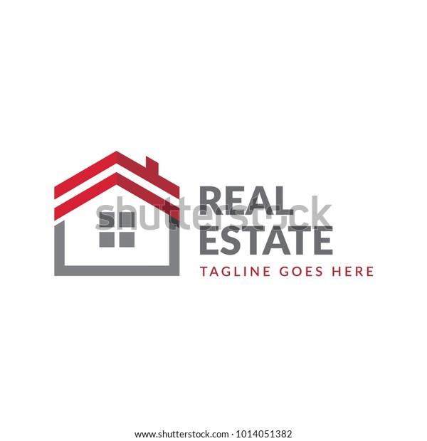 Unique Home Estate Log Icon Vector | Buildings/Landmarks Stock Image