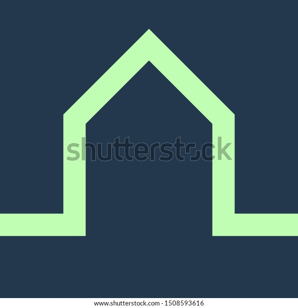 Unique Home Vector Logo Design Stock Vector (Royalty Free) 1508593616