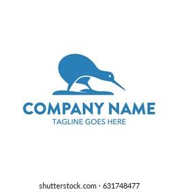 Unique Kiwi Bird Logo