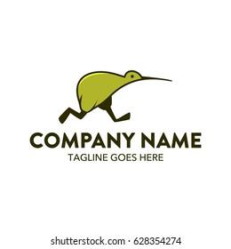 Unique Kiwi Bird Logo Template