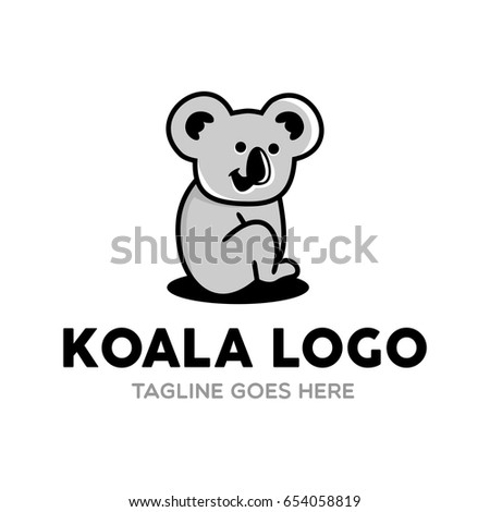 Unique Koala Logo Mascot Character Template Stock Vector (Royalty ...