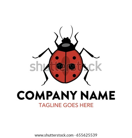 unique ladybug logo template stock vector royalty free 655625539