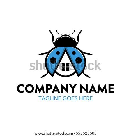 Unique Ladybug Logo Template Stock Vector (Royalty Free) 655625605 ...