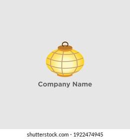 Unique lamp design, simple and elegant design icon