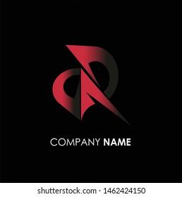 unique letter D & R DR logo concept, creative logo concept, icon alphabet vector
