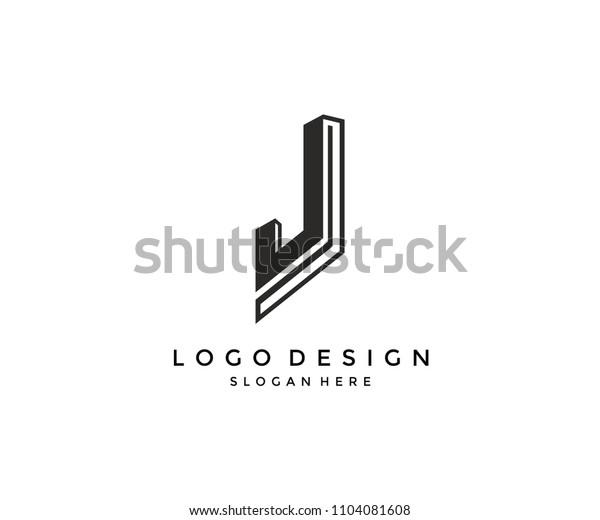 Unique Letter J Monogram Logo