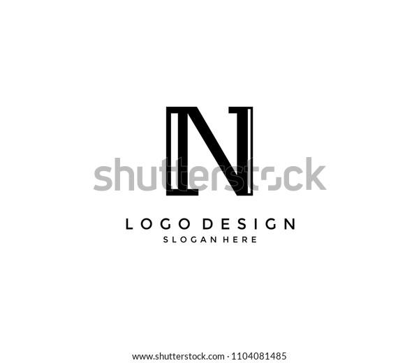 Unique Letter N Monogram Logo