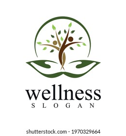 a unique logo about health, welfare, prosperity and mutual help
