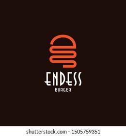 Unique logo design that represent the letter E and burger - EPS10 - Vector.