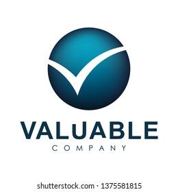 Unique logo round shape. Letter V, logo design