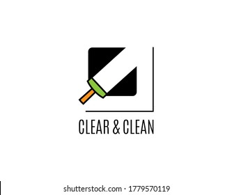 Unique and Lovely Cleaning Logo with Modern Concept. Design with Simple and Antique Vector Isolated on White Background. This Logo Ideal for Business of Cleaning Service.