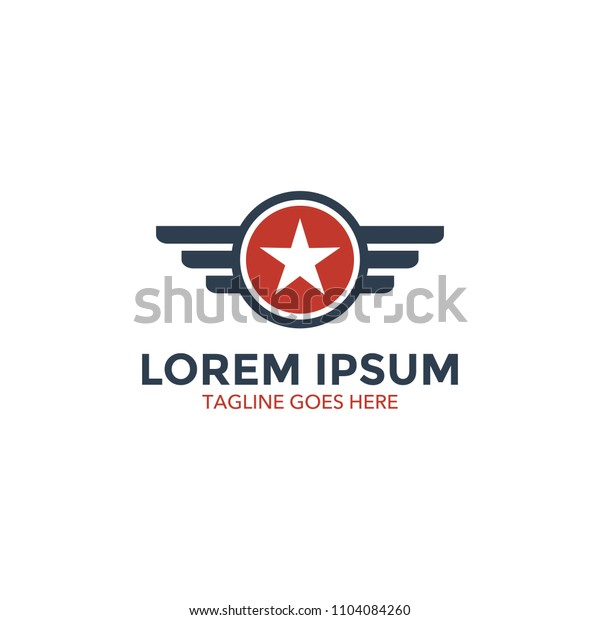 unique military logo vector illustration design. icon