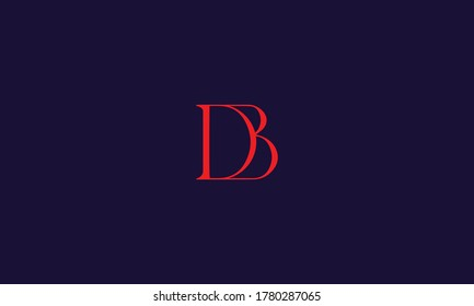 Unique and Modern alphabet DB letters Icon logo Concept Vector Template