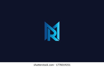 Unique and Modern Alphabet MR, RM letters Icon logo Concept Vector Template