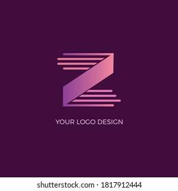 Unique and Modern Alphabet Z letter Icon logo Concept Vector Template  | Creative Z Letter Logo Design With Shapes | Gradient Z Letter Logo.