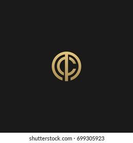 Unique modern creative elegant geometric circular shaped fashion brands black and gold color MC CM M C  initial based letter icon logo.