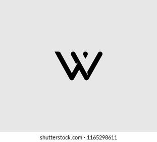 Unique Modern Minimalism Monogram Letter W Logo