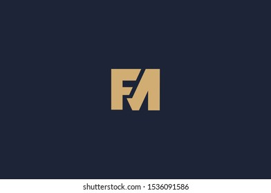 Unique Monogram Letter FM Logo Vector - EPS10