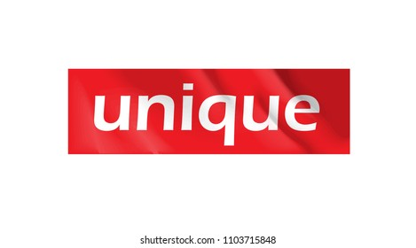 unique on red wrinkled sticker for t shirt print