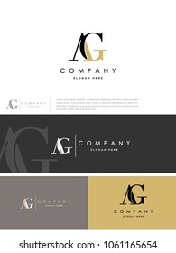 """Unique perfect modern stylish attractive geometric """"AG"""" initial based letter icon logo."""