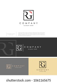 "Unique perfect modern stylish attractive geometric ""RG"" initial based letter icon logo."