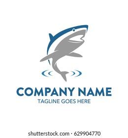 Unique Shark Mascot Logo Character