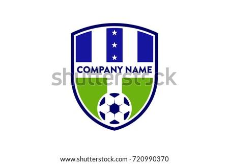 f4911fd06b6 Unique Soccer Football Team Badge Logo Stock Vector (Royalty Free ...