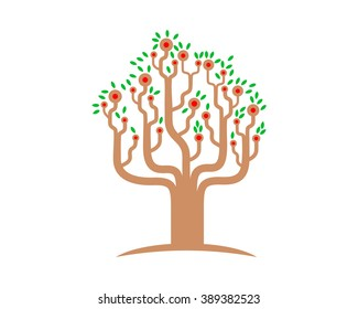 unique tree image icon
