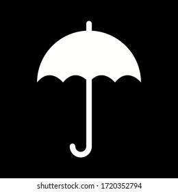 Unique Umbrella Vector Glyph Icon