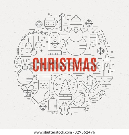Unique Vector Concept Different Christmas New Stock Vector Royalty